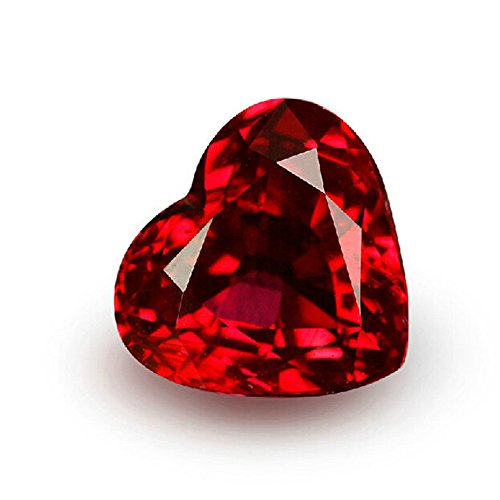 Ruby Heart Shape Faceted Gemstone Heart Shaped Cut Blood-red Ruby Gem Multiple Sizes to Choose C40R