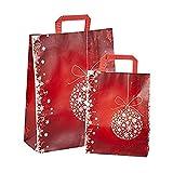 Propac Z-SHONR22 ShopPEr de papel kraft rojo Navidad