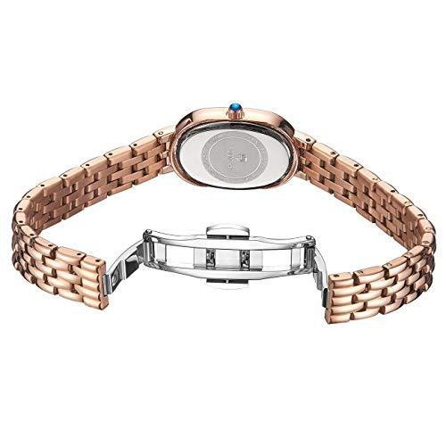 Damen-Uhren Diamant Analog Einfach Quarz Edelstahl,Gold