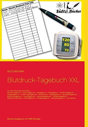 Blutdruck-Tagebuch XXL