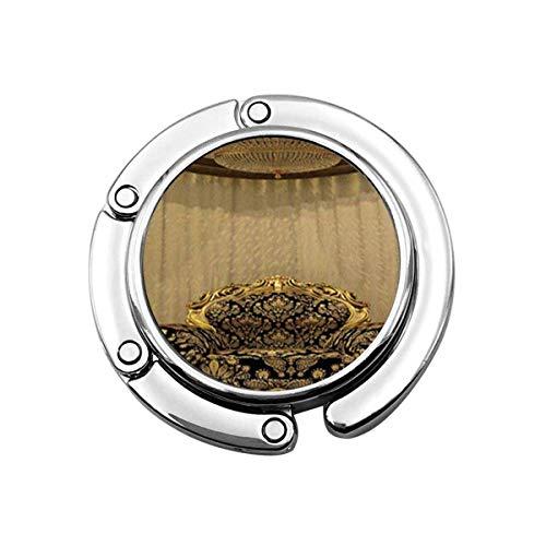 Niedliche Faltbare Geldbörse Kleiderbügel Haken für Tisch, Golden Luxury Europe Trpe Sofa Handtasche Haken Tischtasche