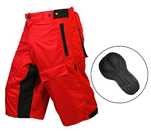 Pantalones cortos ProComfort MTB para bicicleta de montaña, con forro interior acolchado Coolmax., hombre