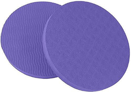 GoYonder Eco Yoga Workout Knee Pad Cushion Violet (Pack of 2)