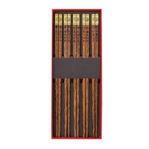 WXMYOZR Juego De Palillos Reutilizables Palillos Ligeros De Madera Natural Grabados con Nombres Personalizados, para Sushi, Fideos Y Comida Asiática, 10 Pares