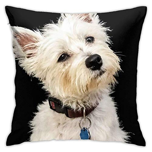 Throw Pillow Covers Decorative Throw Pillow Case West Highland Terrier Cushion Case