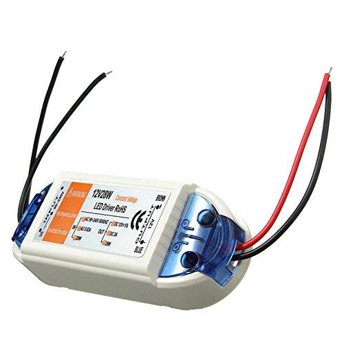 Nrpfell AC(Corriente alterna) 90-240V a DC(Corriente directa) 12V LED conductor adaptador transformador corriente de la fuente para LED tira 2unids/grupo (28W)