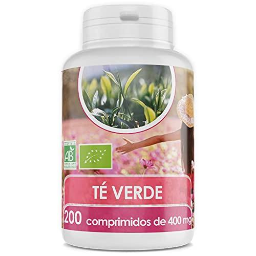 Té Verde Orgánico - 400 mg - 200 comprimidos