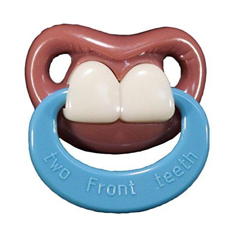 Billy Bob Pacifiers 50090R Zwei Zähne lustige Schnuller