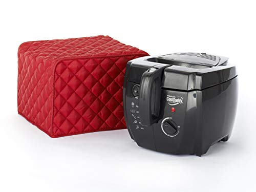 Covermates Keepsakes – Deep Fryer Cover – Dust Protection - Stain Resistant - Washable – Appliance Cover - Red