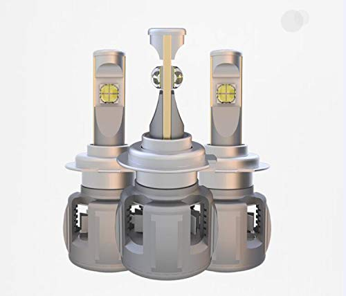 X 70 LED phare kit 9005, halogène remplacement aluminium près et loin de lumière lumière de 5800 ML, blanc 12 24V, 1 pièce