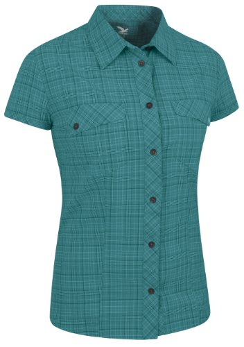 SALEWA Damen Hemd Kitaa Dry Am W Short Sleeve Shirt, M Talut Ice Blue, 42/36