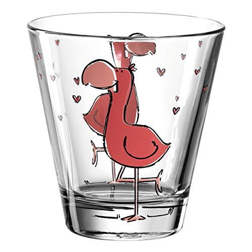 Leonardo Bambini Trink-Glas, Kinder-Becher aus Glas mit Tier-Motiv, spülmaschinengeeignetes Saft-Glas, 1 Stück, 215 ml, 017904