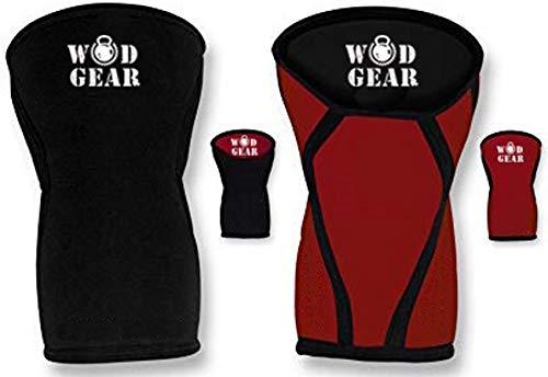 WODGEAR - Rodilleras Reversibles de Neopreno de 7 mm para Hombre y Mujer Sentadillas y Levantamiento de Pesas.