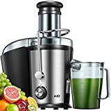 Juicer Machines, Juicer with 3''Wide Mouth, Easy to Clean, Ultra Power Dual Speed Juice Extractor for Fruits & Vegetables, Anti-drip Mouth, Non-slip feet, BPA Free