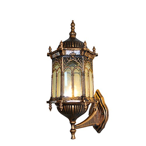 Moderna aplique LED lámpara de pared para exteriores balcón de jardín, lámpara de jardín balcón impermeable al agua exterior luminosa, decoración de pared