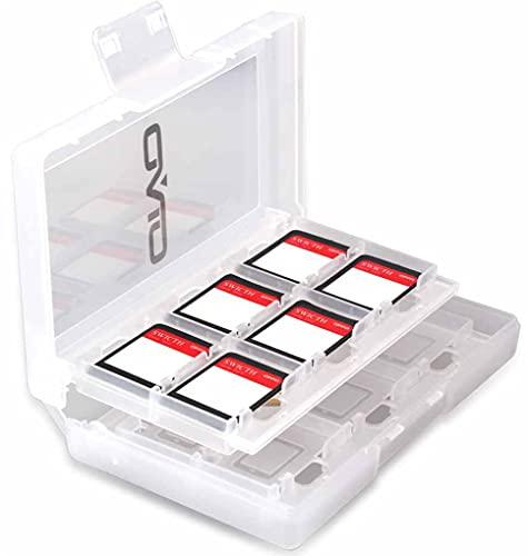 Custodia Giochi compatibile con Nintendo Switch - Organizzatore Card Giochi Involucro Rigido con 24 Slot/Inserimenti, Scheda sd porta Cartucce Nintendo Switch, porta schede nintendo switch (White)