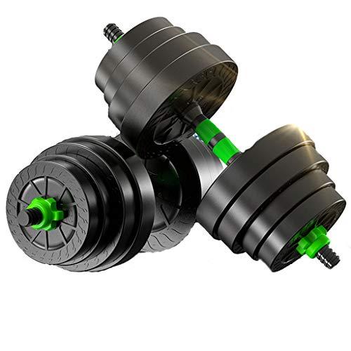 Alvis Dumbbell weights set Adjustable Weight Lifting Dumbbell Barbell Bar & Weights Set Gym Fitness 10KG,15KG,20KG dumbbells set for men (Size : 20kg)