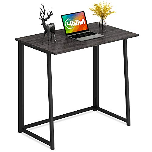 4NM Folding Desk, No-Assembly Small Computer Desk Home Office Desk