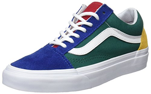 Vans Unisex Adults' Old Skool Trainers, Multicolour ((Vans Blue Yacht Club) Blue/Green/Yellow R1Q), 7 UK 40.5 EU