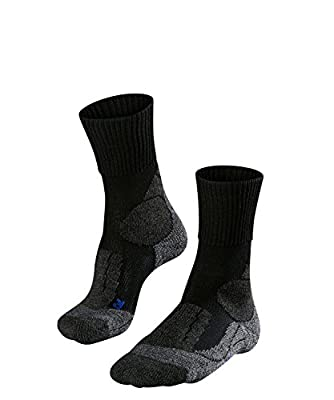 FALKE mens TK1 Cool Hiking Socks - Sports Performance Fabric, Black (Black-Mix 3010), US 10.5-11.5 (EU 44-45 ? UK 9.5-10.5), 1 Pair