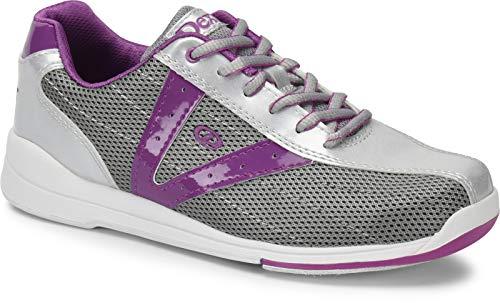 Dexter Vicky - Silber/Grau/Lila, Bowling-Schuhe Damen, für Rechts- und Linkshänder in den Schuhgrößen 36-41 und Mein-Bowlingshop.de Schuhtasche Größe 36
