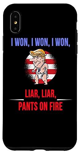 iPhone XS Max I WON, Funny Trump Temper Tantrum We all call out Liar Liar Case