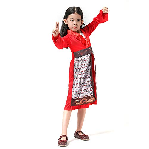 Cosplay Kostüm Kind Mulan Red Hero Halloween Party Kostüme Klassische Live Action Filmfigur Girls A L