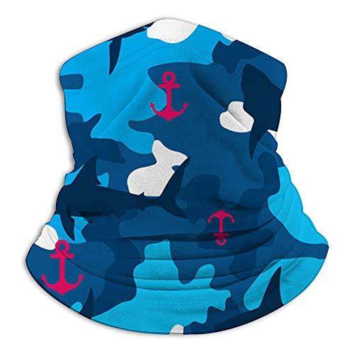 Have You Shop Shark Anchor On Terrain Animals Bandana Face Scarf Neck Gaiter, Scarf Diademas Pasamontañas Headwear Tube Windproof Seamless Face Cover para mujeres Hombres