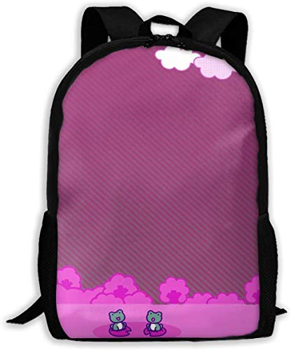KRISMARIO Custom Hello Kitty with Frog Casual Backpack School Bag Travel Daypack Gift