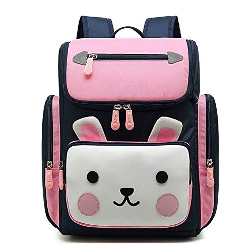 Lightweight Spine Ultra Light Children's Schoolbag School Backpacks for Boys Cute Kids Book Bag Travel Daypack (Color : Small Pink)