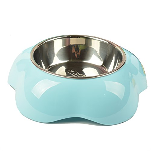 Mangeoire Pet petons deux chats pour chiens et chats vert