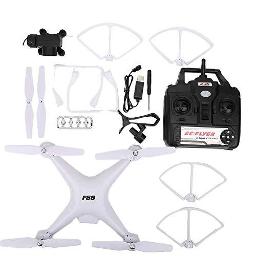 zhuolong Drone Telecamera HD, F68 Drone Telecomando Fotocamera HD 5MP Batteria 2000mAh Giocattolo quadricottero con Ritorno a Un Pulsante(Bianca)