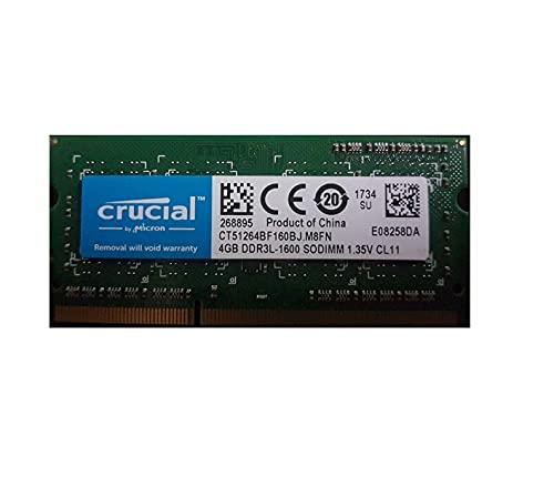 Crucial RAM 4GB DDR3 1600 MHz CL11 Laptop Memory CT51264BF160B