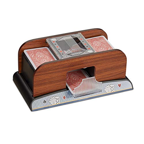 Relaxdays Mélangeur de Cartes Automatique 2 Jeux de Cartes à