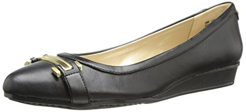 Bandolino Women's Veradis Leather Flat,Black,10.5 M US