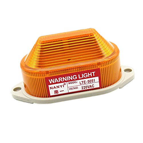 FLAMEER 1 Stück Warnblinkleuchte LED Rundumleuchte Blitzleuchte Signallampe für Sicherheit AC 220V Wasserdicht