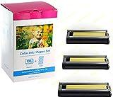 Bubprint CARTA + CARTUCCIA compatibile per CANON SELPHY KP-108IN KP-108IP CP1200 CP1000 CP910 ES1 ES2 CP200 (100X148MM)