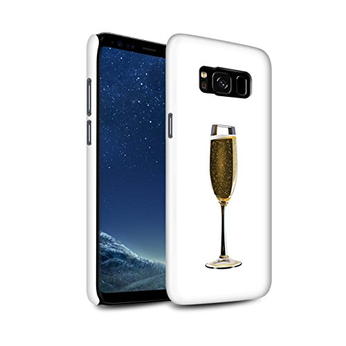 Stuff4® matte snap-on hoes/case voor Samsung Galaxy S8/G950 / EEN glas champagne patroon/Sass/Frech collectie