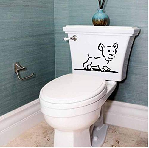 Yangjingkai 2 Stks Hond Puppy Animal Slaapkamer Home Decor Muursticker Toilet Decal Kinderen Fotobehang Art 22.8X15.6Cm
