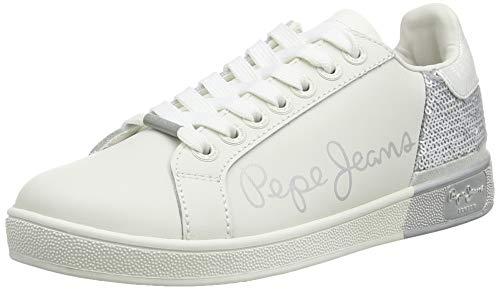 Pepe Jeans Brompton Sequins, Zapatillas Mujer, Plata 934, 38 EU
