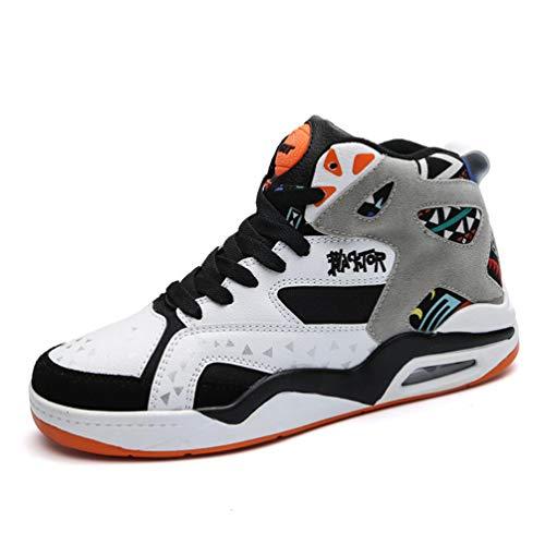 Männer Basketball Schuhe Hohe Spitzenturnschuhe Outdoor Atmungsaktive Stiefeletten Luftpolster Männliche Sportschuhe