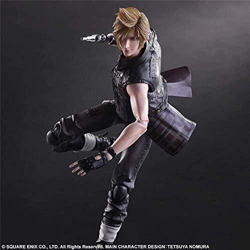 Rowa Final Fantasy 15 Play Arts Anime Figuren Prompto Argentum Anime Modell Statue PVC Anime Figürchen Model Kit for Hauptdekor 25CM ( Size : 25CM )