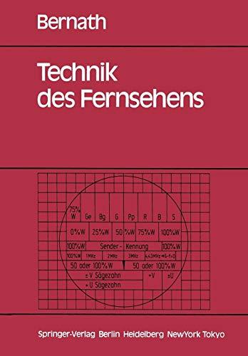 Technik des Fernsehens: Aufnahme, Wiedergabe, Speicherung, Übertragung, Empfang, Meßtechnik, Qualitätskriterien