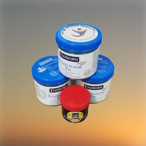 Enzborn Teufelssalbe EIS Bundle im 3er Pack (3x200ml) + Kühl Aktiv Gel