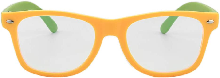 Gudzws Kids Blue Light Blocking Glasses Rectangle Digital Boys Girl Age for 5-12