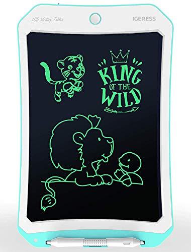 IGERESS Neueste 10-Zoll-LCD-Schreibtafel in Blau Zeichentafel mit größerer Schreibstärke Bildschirm für Lernen, Unterhaltung und Arbeiten von Kindern und Erwachsenen (Blau)