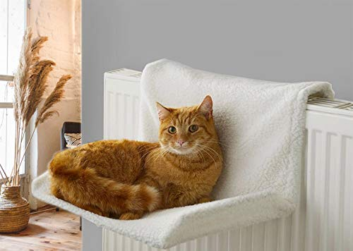 Vinsani Soft Luxurious Pet Radiator Bed for Cat Kitten Puppy Dogs with Soft Machine Washable Fleece Lined Cover Warm Cosy Hammock Style Radiator Bed