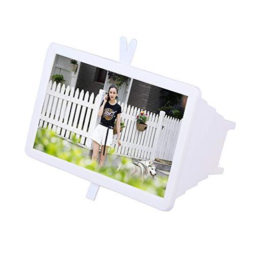 14 inch 3D mobiele telefoon HD-scherm inklapbaar vergrootglas smartphone vergrootglas, stereo-projectie vergrootglas, wit