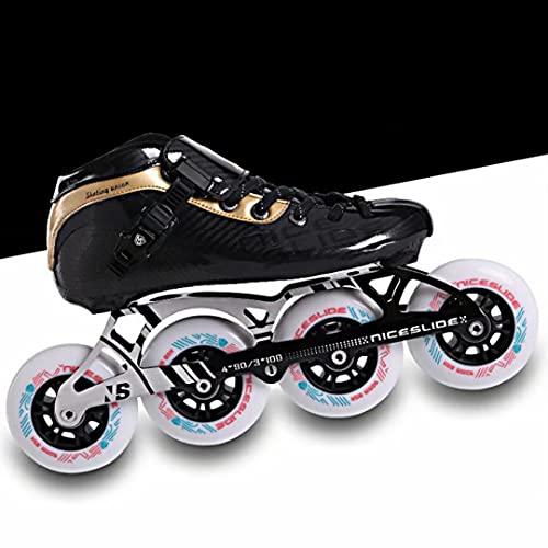 Inline Skate - Adult Professional Rollerblades, 4 * 90-110 MM RÄDER Professional Carbon Roller Skates FÜR Frauen Inline Speed Skates