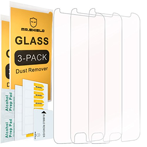 [3-PACK]- Mr.Shield Designed For Motorola Moto G5S Plus/Moto G5S+ (Will NOT fit for G5 Plus) [Tempered Glass] Screen Protector with Lifetime Replacement